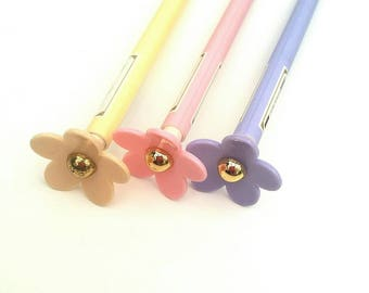 Flower Pencil lilac daisy pencil pink yellow