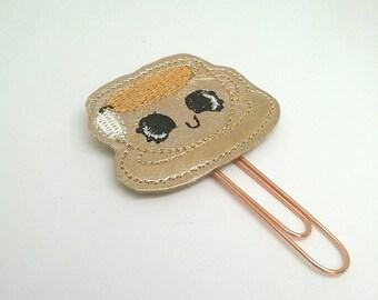 Rose gold tea cup paper clip, tea cup planner clip