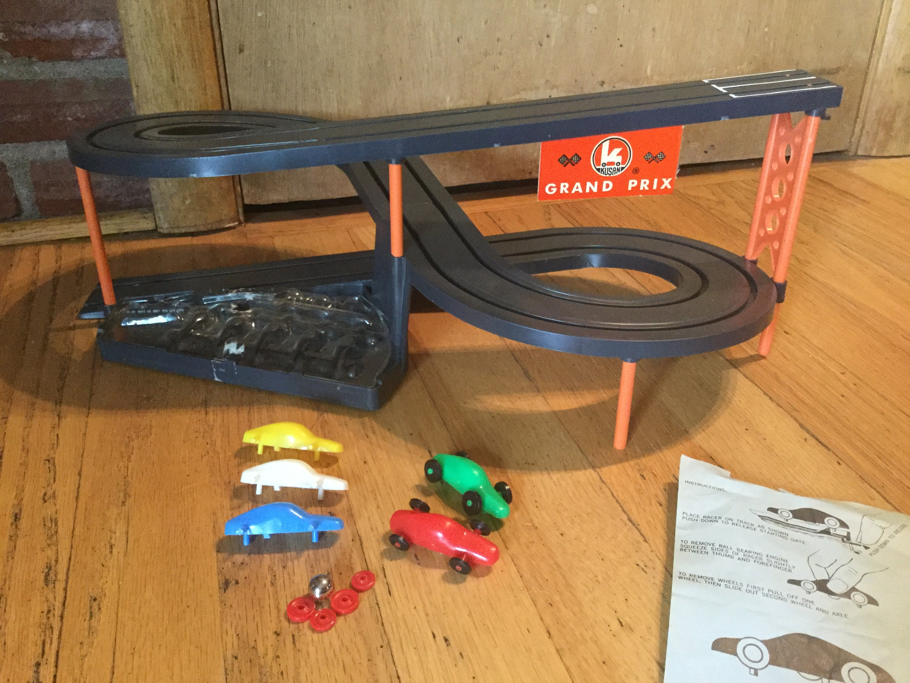1968 Kusan Grand Prix Race Track With Cars Etsy