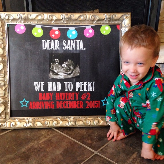december baby christmas pregnancy announcement expecting etsy