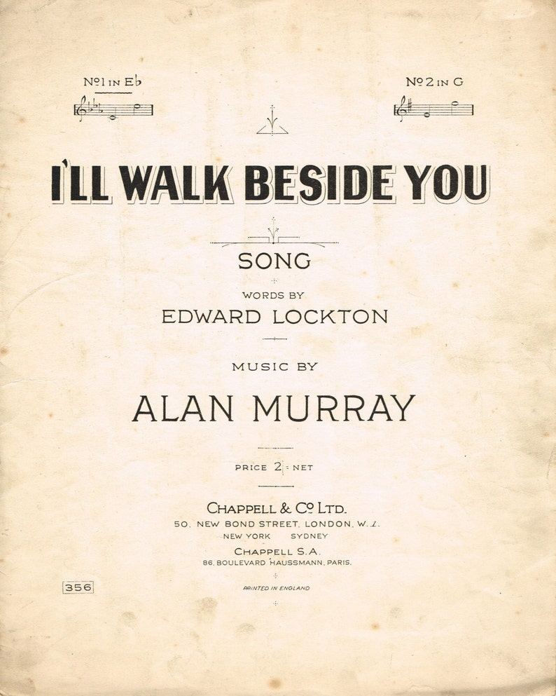 I'll Walk Beside You - Sheet Music for Instant Download  PDF