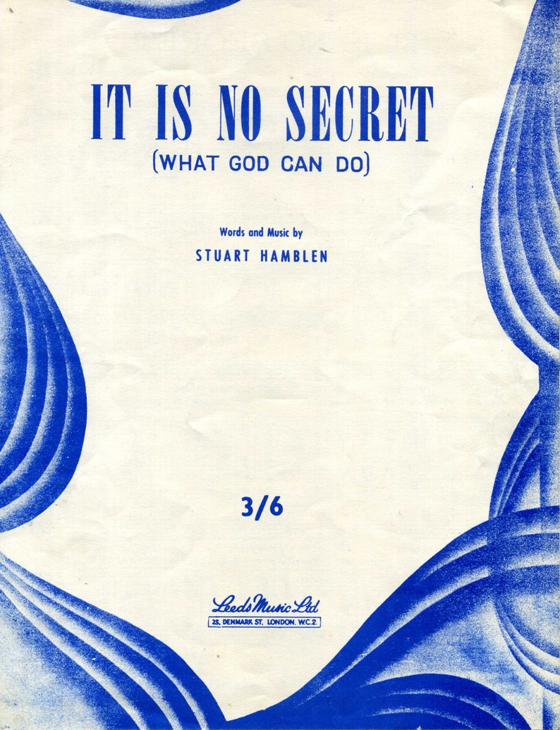 It Is No Secret (What God Can Do) Sheet Music PDF  Stuart Hamblen