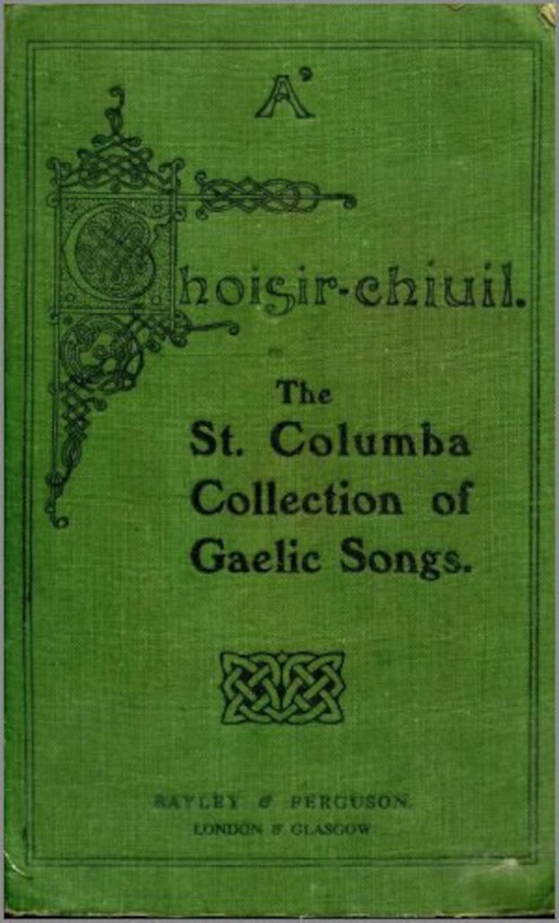 5 Gaelic Songs from the St  Columba Collection  Sheet Music PDF Download   Cover Artwork  Vintage Sheet Music