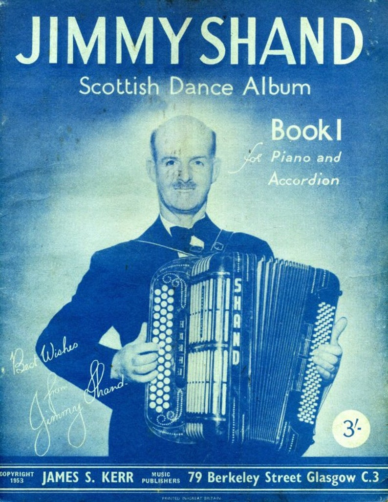 Jimmy Shand Scottish Dance Album for Piano and Accordion  Sheet Music  Instant Download  Cover Artwork