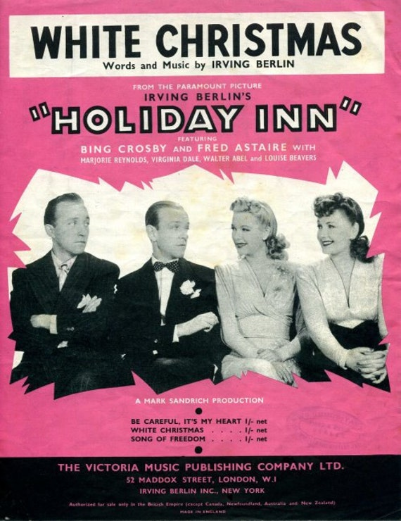 White Christmas, Bing Crosby in Holiday Inn  Irving Berlin  PDF Download   Guitar and Ukulele chords