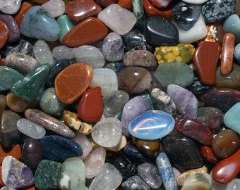 Stones Tumbled Polished Gemstones Valentines Day Mix Tumbled Gemstone Natural Tumbled Gemstone Mix SMALL Wholesale Bulk Lot Rocks