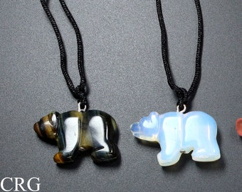 Big Bear Lake Celestial Two toned grey and white river rock necklace National Parks