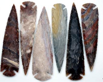 Jasper Arrowhead Gemstone-Jasper Arrowhead-Natural Jasper Hammered  Hand Carved Arrowhead Gemstone-42.5x23.5x8 MM-Wholesalegems-BSW10873