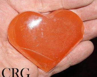 Red Selenite Heart 6 cm