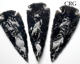 """Black Obsidian Arrowhead 3""""-3.5"""" QTY-1 (AR34DG)"""