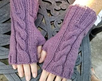 BILLIE - 3 PAIR Cable Knit Fingerless Gloves