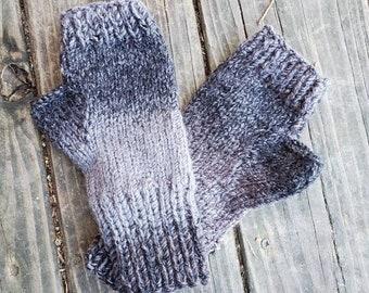 Outlander Inspired  Knit Fingerless Gloves - Grey Fingerless Gloves- Fingerless Mittens -  - Women's Accessories - Gloves -