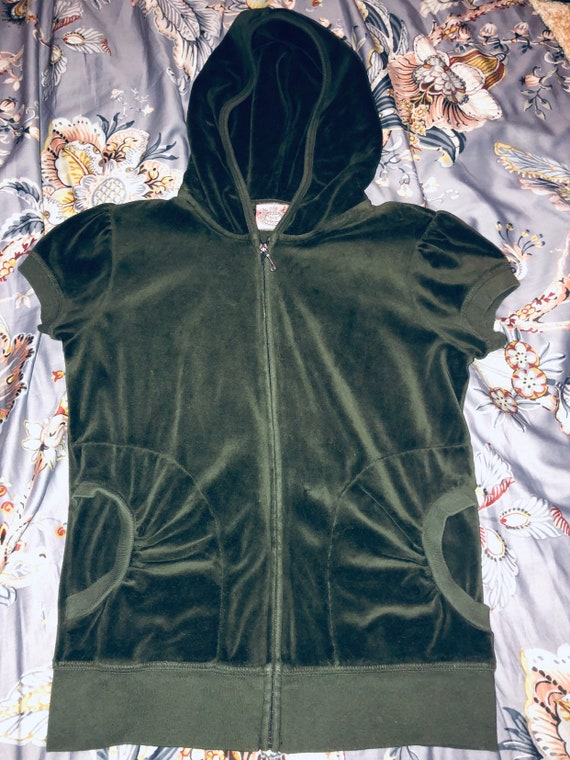 2000s army green Juicy Couture hoodie