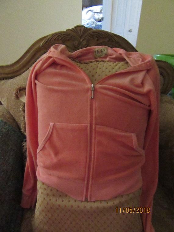 2000s orange sherbet Juicy Couture velour hoodie