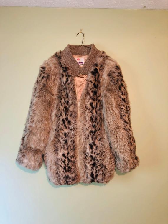 80s Faux Fur Teddy Bear Coat