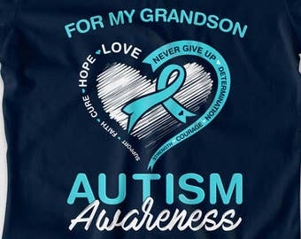 Autism Grandmother Shirt Autism Gift Ideas For Grandma Autism Puzzle Piece Autistic T Shirt Autism Spectrum Advocate Charity Ladies MD926