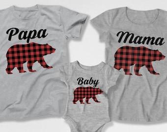 Mom Dad And Me Shirts Mama Bear Papa Bear Baby Bear Matching Family Pajamas  Bear Father Son Christmas Pajama Shirts Bear Christmas Shirt dbf6e78e9