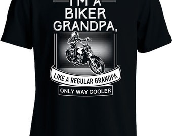 6e972679 Funny Motorcycle T Shirt Gifts For Grandpa I'm A Biker Grandpa T Shirt  Motorcycle Gifts Grandfather Tshirt Joke Mens Tee MD-474