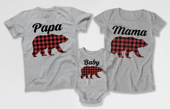 2b84ee20fa Mom Dad And Me Shirts Mama Bear Papa Bear Baby Bear Matching