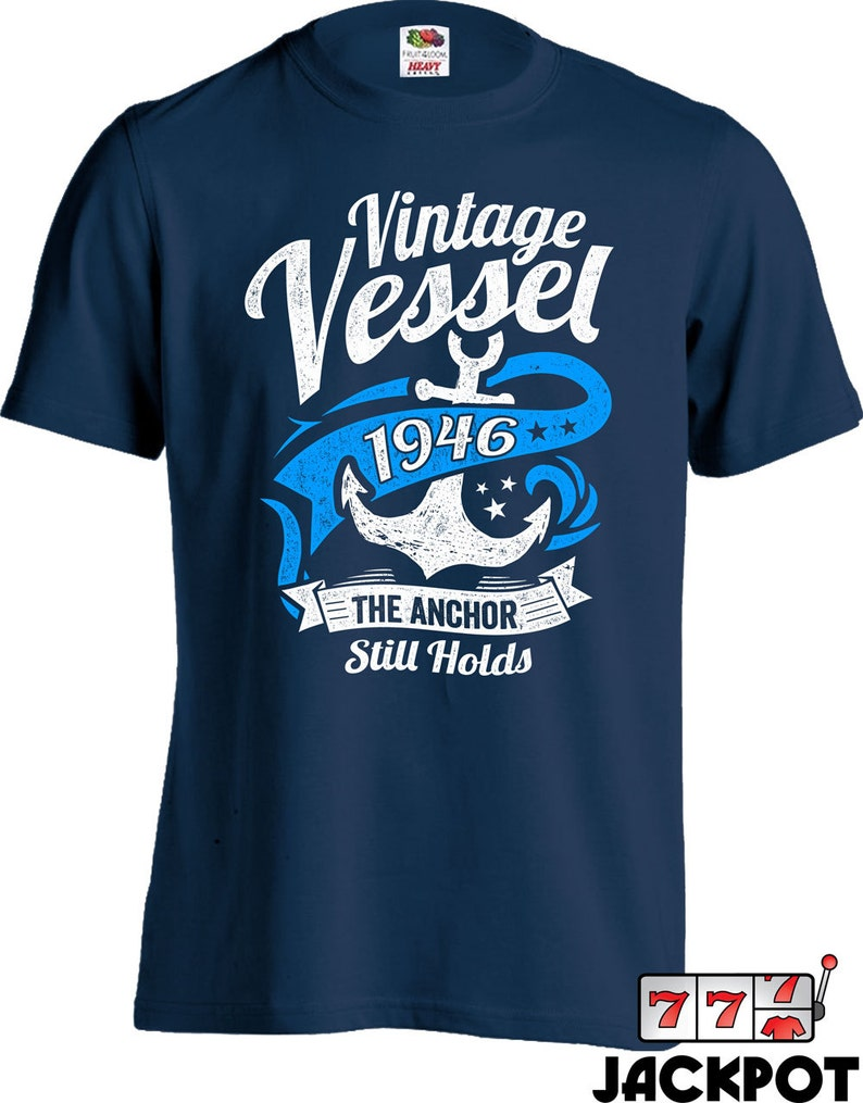 70th Birthday Gift For Him Nautical Shirt Sailing