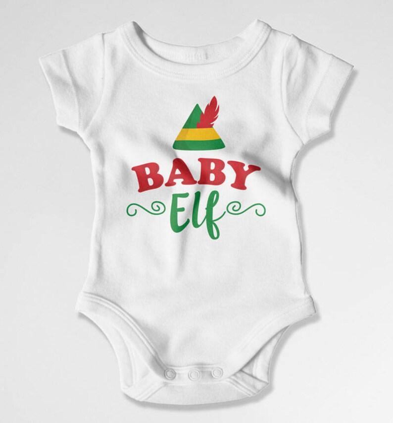 BABY ELF BODYSUIT BABY BODY VEST BABY GRO CHRISTMAS XMAS SANTA GIFT GIRL BOY