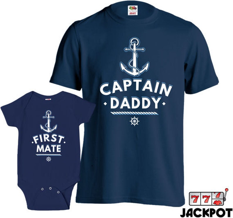 70fdbd29 Matching Father Son Shirts Captain And First Mate Baby | Etsy