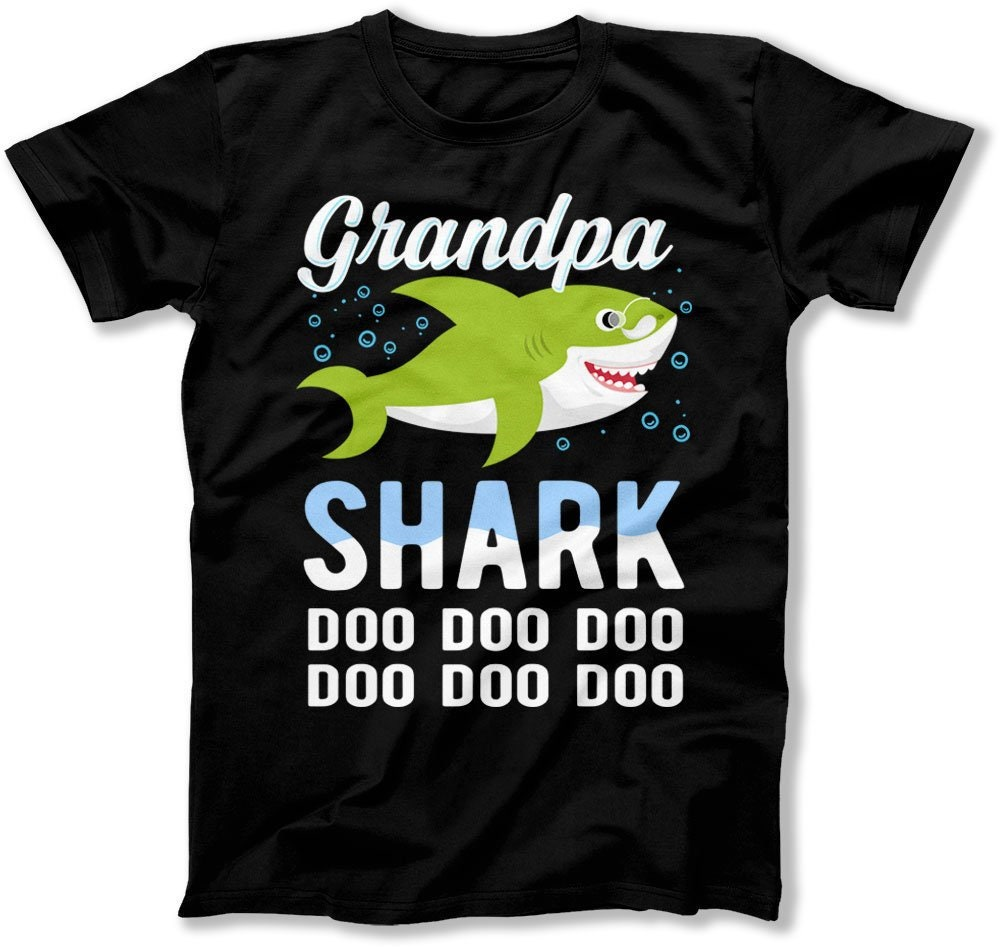 b01bdd802e Grandpa Shark Shirt Shark Family Christmas Pajamas Shirts