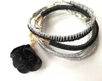 Double Wrap Bracelet, Boho Style Summer Accessories, Handmade Jewelry, Thread Bracelet, Gift Ideas For Girl, Festival Accessories