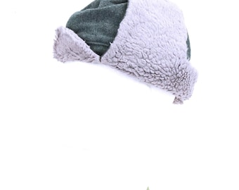 Swiss Army Fur Lined Grey Wooly Hat 6c20ee4917a