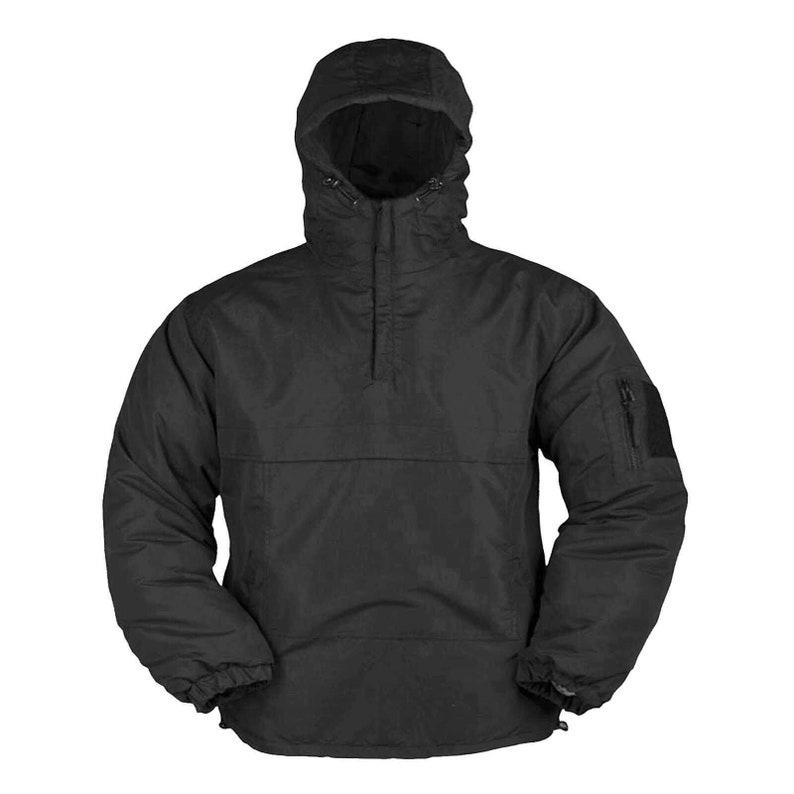 Mil-Tec Black Winter Anorak Fleece Lined