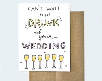 Best Friend Engagement Card, Engagement Card, Marriage Card, Funny Engagement Card, Congratulations Card, Engaged Card, Funny Card
