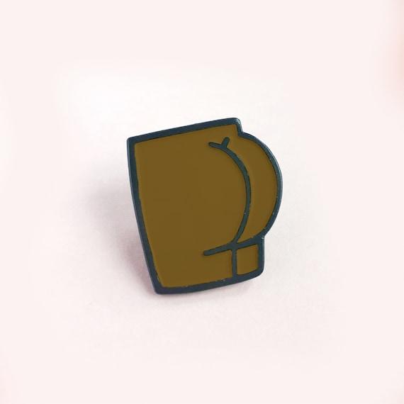 Bum Soft Enamel Pin