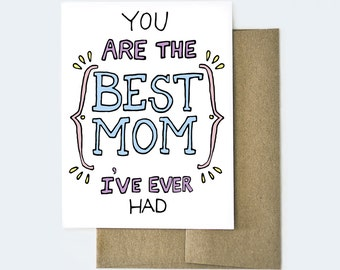 Mother's Day Card Funny, Best Mom Card, Card for Mom, Card for Mother, Funny Card for Mom, Funny Card, Mom Card