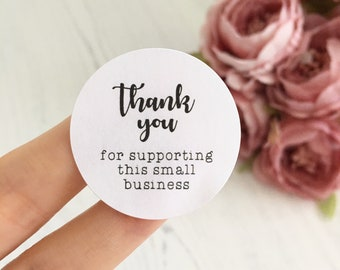 Thank You For Supporting This Small Business - Various Shop Small Stickers - Thank You For Your Order, Thank You Stickers, Review Stickers