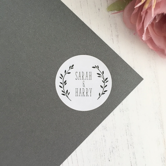 Round personalised confetti bag labels stickers