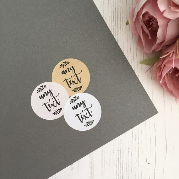 Purple Floral Wedding favour stickers 37mm x 35 Throw me