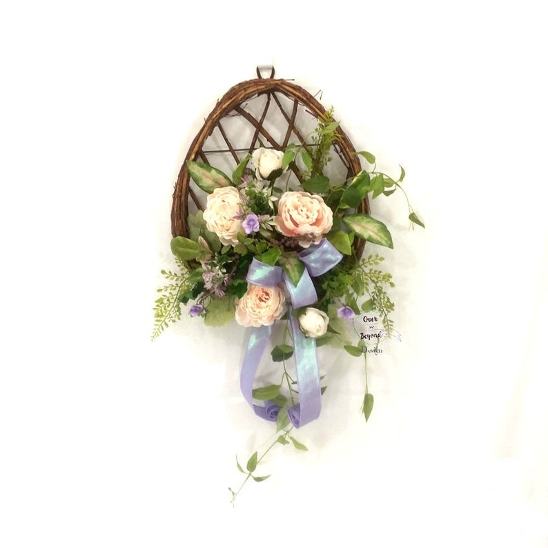 Easter wreaths for front door Easter Wall decor Easter egg wreath Spring wreaths for front door Easter decor Spring wall decor