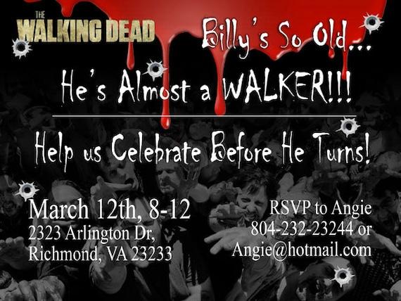 Printable download funny walking dead birthday invitation etsy image 0 filmwisefo