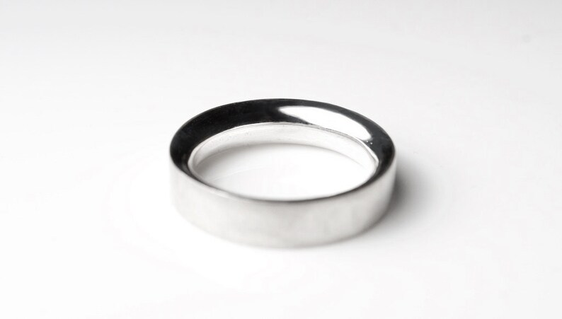 Silver Minimal Ring Thick Engagement Ring Minimal Wedding Band Minimal Wedding Ring Minimal Engagement Ring Wide Silver Ring