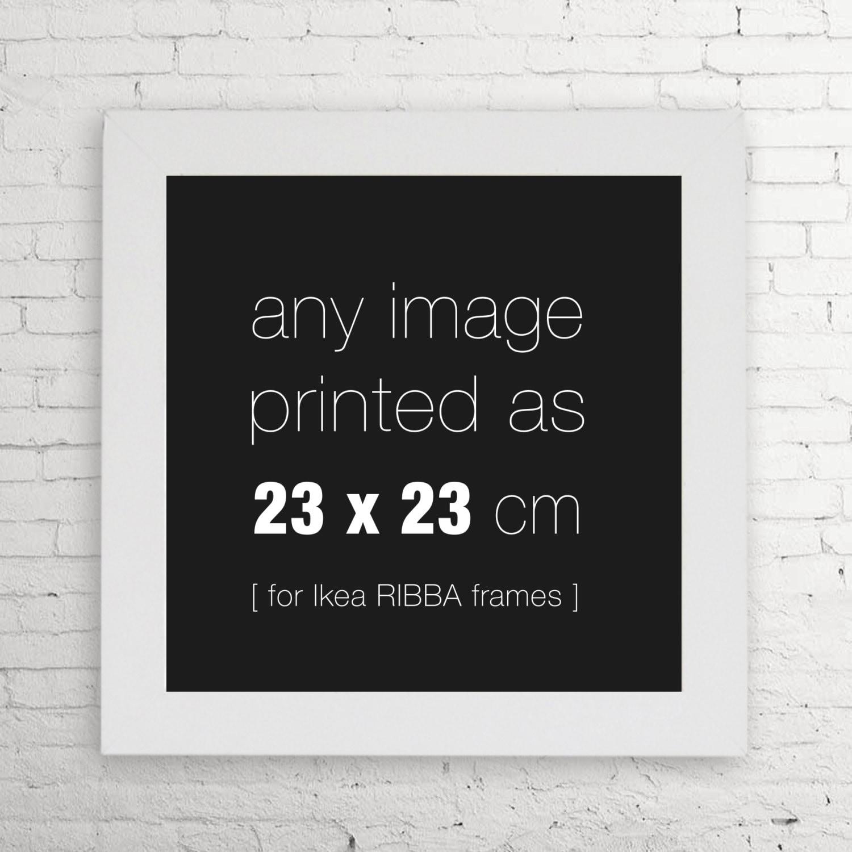 Wählen Sie Ihre Größe 23 x 23 cm Ikea RIBBA freundlich