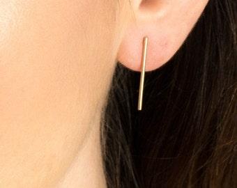 Long Bar Earrings, long line earrings, long stick earrings stud bar earrings bar post earrings slim bar earrings skinny bar earrings minimal