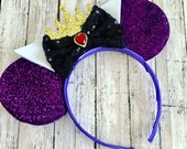 Evil queen Sparkly Mouse Ears