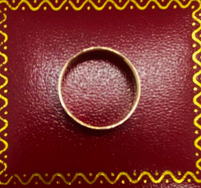 Antique Victorian Rose Gold Wedding Band