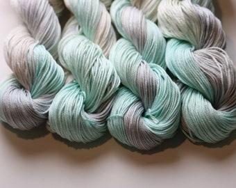Denim & Ice DK weight hand dyed pima cotton yarn