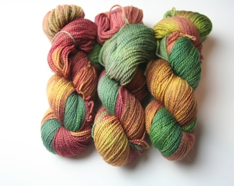Thanksgiving in the Vineyard sock weight / fingering weight hand dyed yarn
