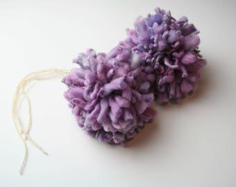 Merino Oversized Pompom Lilac Ice Purple