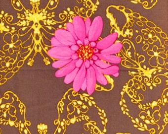 Cotton Fabric | Tina Givens | Free Spirit Fabrics | Treetop Fancy | Huckleberry | TG52-Coal