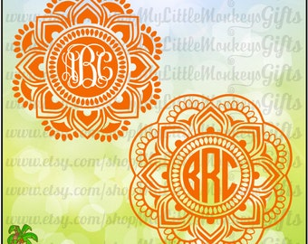 3 color mandala svg etsy