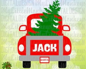 Vintage Truck Back Tree Design Digital Clipart Instant Download Full Color 300 dpi Jpeg, Png, SVG EPS DXF
