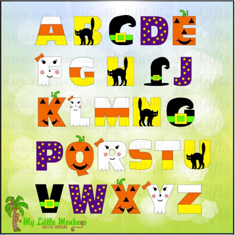 Halloween Alphabet SVG Halloween Letters Halloween svg | Etsy